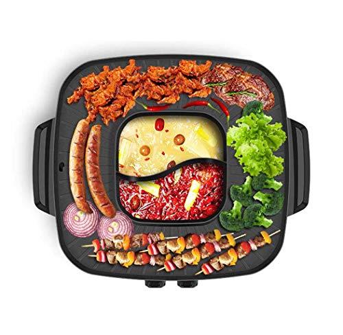 Barbecue Électrique, Style Coréen BBQ Poke Hot Pot, Grill...