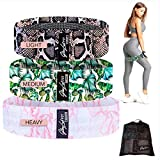 Fabric Resistance Bands Set of 3 – Premium Quality Resistance Booty Bands with Mesh Carry Bag – 3 Strength Levels – Non-Slip Anti-Rolling Design – Build Muscle, Burn Calories, Sculpt and Tone