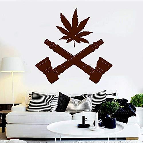 Hennepmoke, muurstickers, rook, hippie, glas, voor ramen, vinyl, heren, hol, slaapkamer, afneembaar, 57 x 57 cm