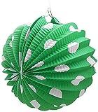 Sini Farolillo Verde con Puntos Blancos 22 cm. diametro
