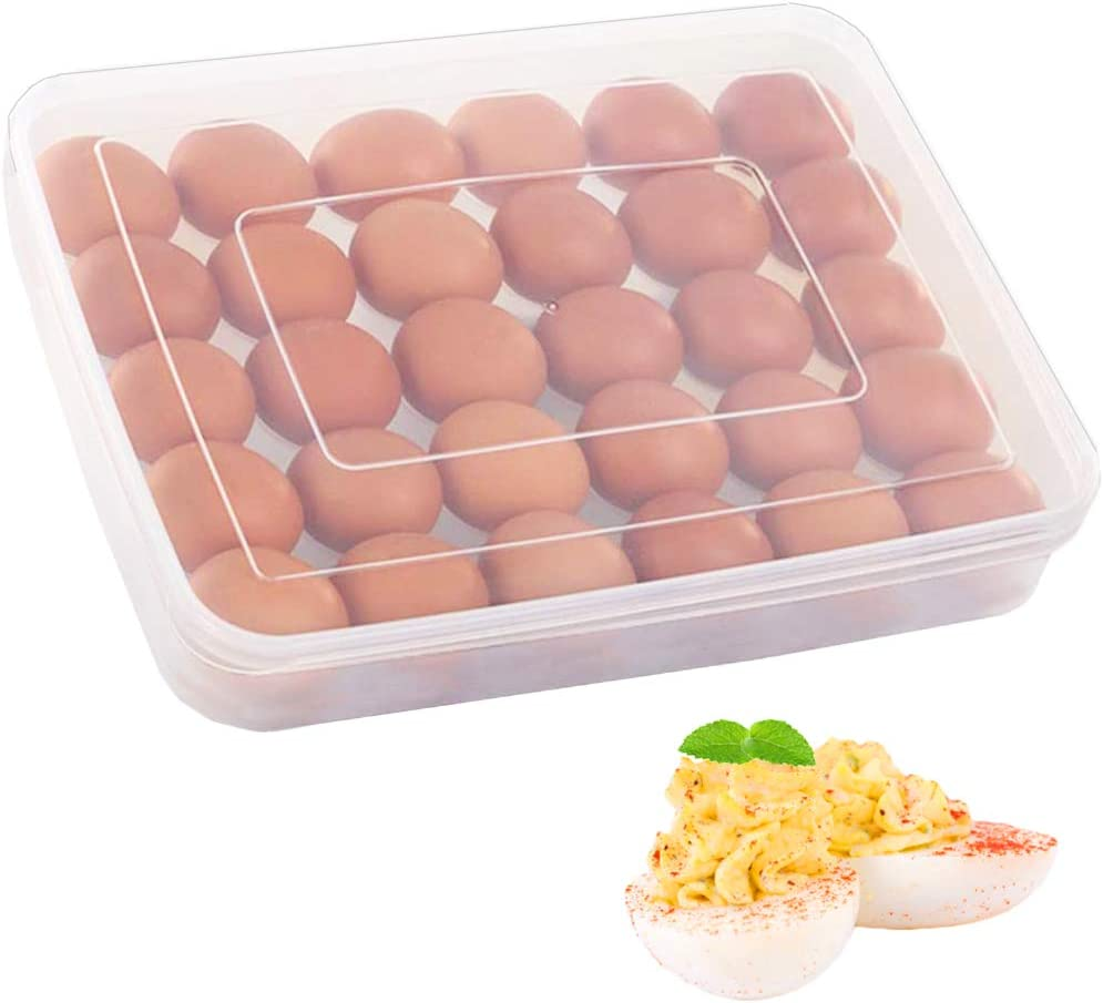 Covered Egg Holder for Refrigerator Super intense SALE 30 Lid Tray Ranking TOP2 with Deviled