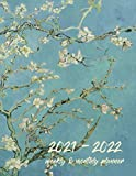 2021-2022 Weekly & Monthly Planner: Vincent Van Gogh - Almond Blossom Calendar, Agenda, Schedule, To Do List, Organizer, Appointment Notebook and Goal Setting