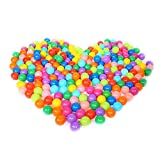 Olymstore 100pcs 2.2inches Baby Ocean Pit Balls, Crush Proof Colorful Soft Plastic Phthalate & BPA Free Playballs, Children Kid Toys Gift Pool Tent Playground Swim Games Playhouse Party (5.5cm-100pcs)