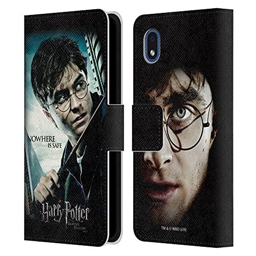 Head Case Designs Licenza Ufficiale Harry Potter Primo Piano Deathly Hallows VII Cover in Pelle a Portafoglio Compatibile con Samsung Galaxy A01 Core (2020)