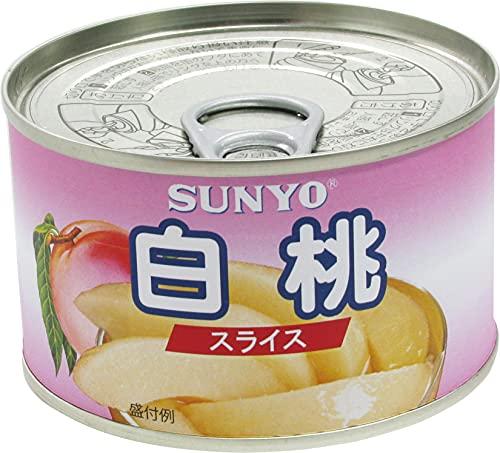 サンヨー おおきめひとくちスライス 白桃 EO缶 227g ×24個