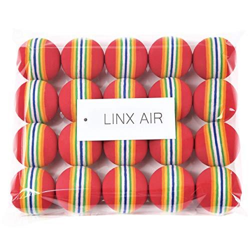 LINX AIR ゴルフ練習ボール 20個入り (レッド)