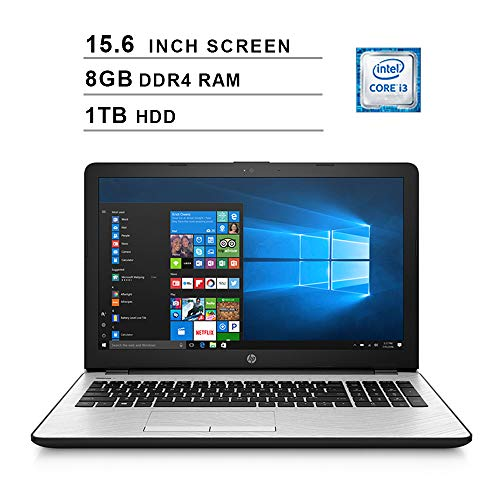 HP 2020 Newest 15 15.6 Inch HD Laptop (Intel Dual Core i3-7100U 2.4 GHz, 8GB RAM, 1TB HDD, Intel UHD Graphics 620, WiFi, HDMI, Bluetooth, Windows 10) (Silver)