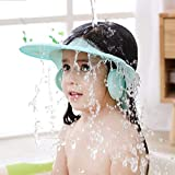 Baby Shampoo Shower Cap wash Bath Shield Visor Hat Adjustable Bathing tub Head Hair Rinser Protection Toddler and Kids (Blue)