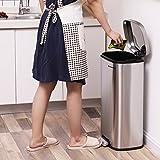 SONGMICS Mülleimer Treteimer für die Küche, Softclose, Abfalleimer mit Deckel und Inneneimer, 30 L Abfallbehälter aus Edelstahl, geruchsdicht und hygienisch LTB03NL - 7