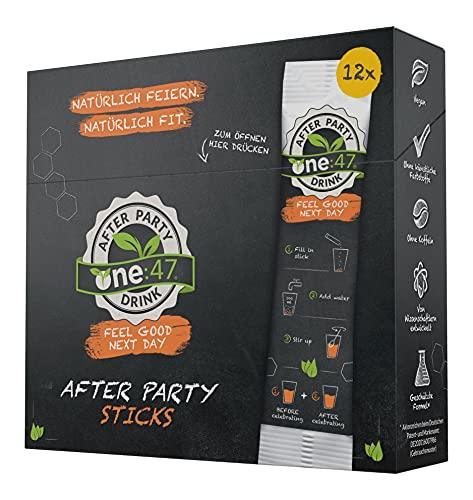 one:47® After Party Drink   12 Sticks   Basisches Elektrolyte Getränk + zusätzlich...