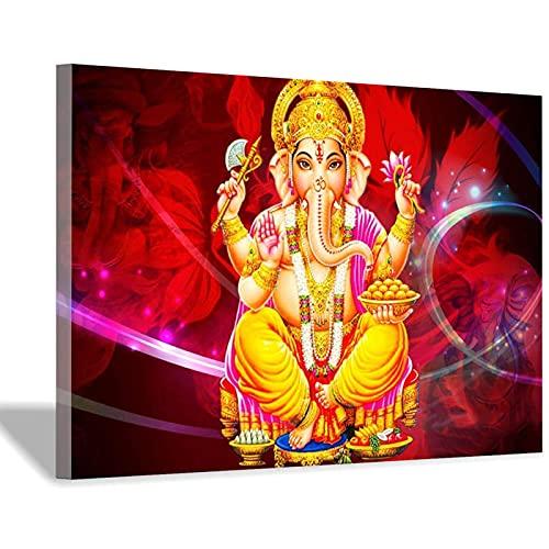 Decorazione da parete per soggiorno Ganapati Hindu Immagini per camera da letto Signore di Ganesha...