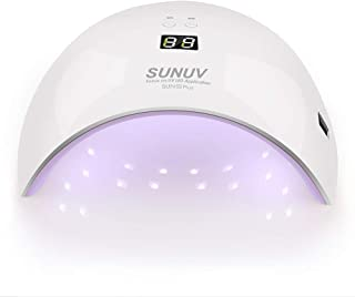 SUNUV Lámpara Secador de Uñas, 36W LED UV Gel Esmalte de Uñas Curado Luz Máquina, Con Sensor Automático y Pantalla LCD Para Manicura Pedicure Nail Art
