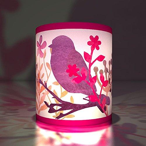 Kartenkaufrausch 5 vogeltjes transparante lichten | theelichthouder | klein transparant papier lichten niet alleen voor zomernachten, lila