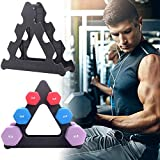 ROLLMOSS Dumbbell Rack Stand Only, 3 Tier Triangle Weight Tree Rack for Dumbbells, Compact Dumbbell Holder, Weight Lifting Dumbbell Tree Weights Rack Dumbbell Stands for Home Gym Organization Workout
