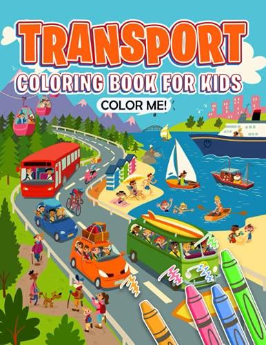 Color Me! - Transport Coloring Book For Kids: Michael Schumacher, Lewis Hamilton, Sebastian Vettel and more...