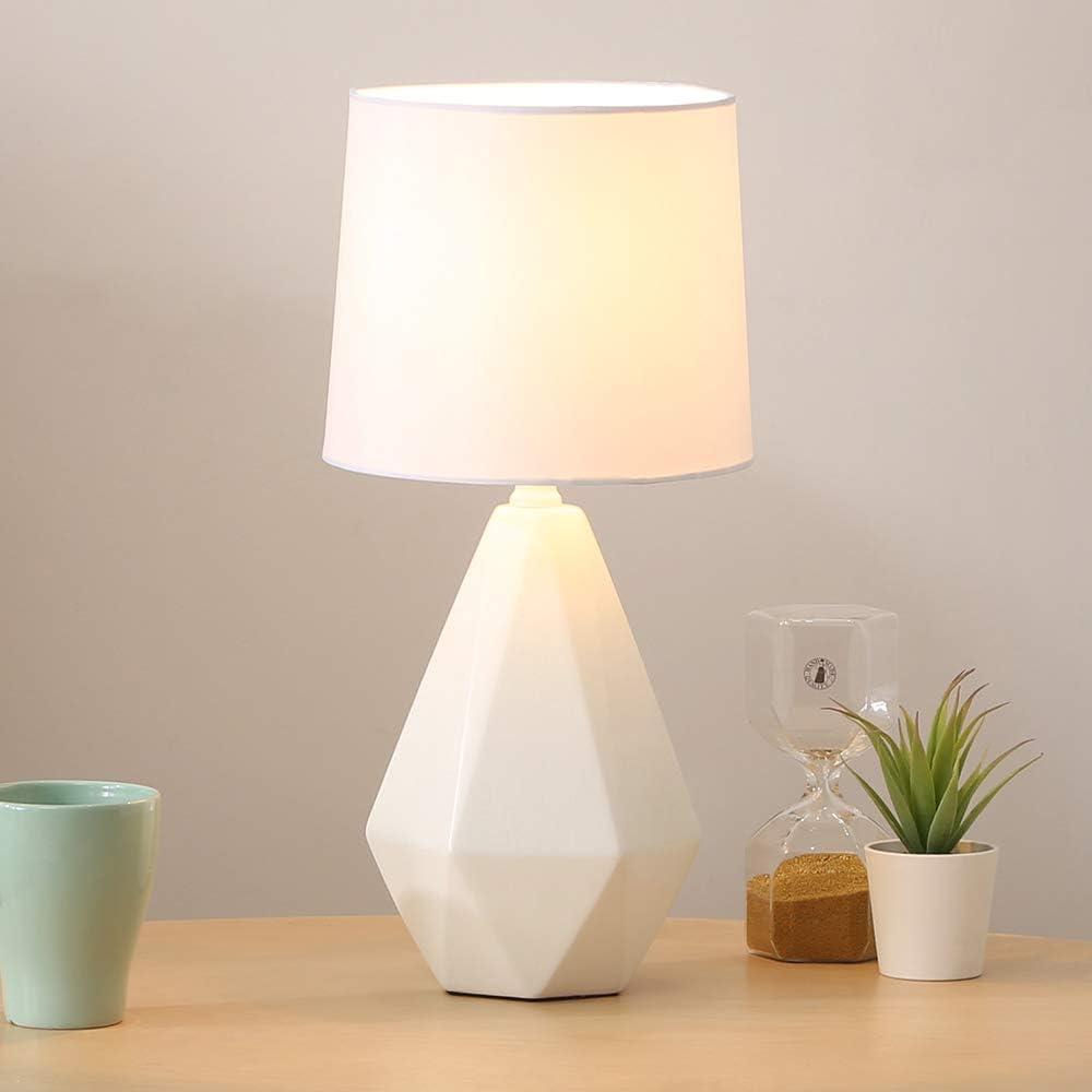 SOTTAE Modern Classic 1 year warranty Small Ceramic Table Lamp White Geometri Irregular