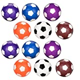 Balles de rechange foosball 12pcs, Oziral Couleur Football style Table Boule ABS Baby-foot pour Standard Balle Table