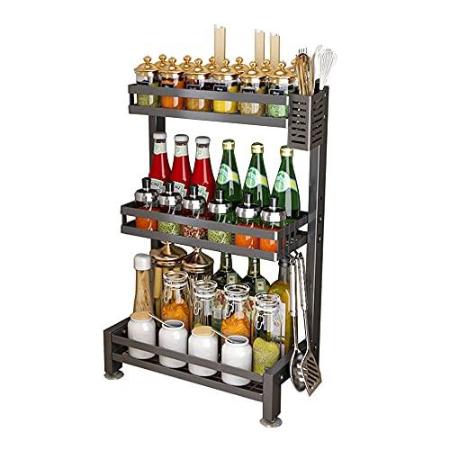 XGGYOOG Spice Rack de Cocina de Acero Inoxidable, Estante Multifunción para el Hogar, Soporte de Carga Fuerte y Más Estable/E / 43×60.5cm