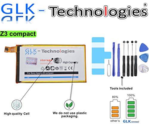 High Power Ersatzakku für Sony Xperia Z3 Compact E5803 E5823 LIS1594ERPC | Original GLK-Technologies Battery | accu | 2700 mAh Akku | inkl. Werkzeug Set Kit 2020 B.j