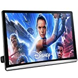 13.3 Inch Android 10.0 Universal Multifunction Car TV Headrest Monitor Tablet Touch Screen Support 4K 1080P Headset WIFI/Bluetooth/USB/SD/HDMI in+Out/FM/Mirror Link Video Player (2G ram 16G rom (1PC))