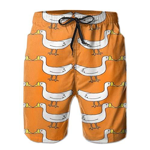 Girl Owls Men's Swim Trunks Quick Dry Beach Swim Shorts with Mesh Liner