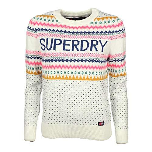 Superdry Pullover Oslo Fairisle Jumper Cream