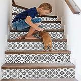 Qinyubing 13 unids Mosaico de Azulejos de cerámica Pegatinas de Escalera Creativas Personalizadas en casa DIY Pegatinas de Pared decoración de la Escalera Pegatinas de Pared