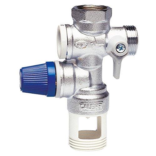 Caleffi 526142 Sicherheitsgruppe für Boiler 1/2 Zoll mit Absperrung, Rückschlagventil steuerbar