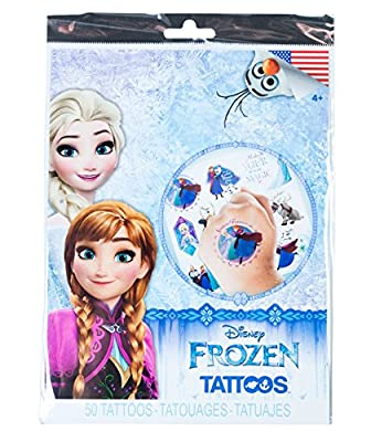 Savvi Disney Temporary Tattoos, Set of 50, Disney Frozen