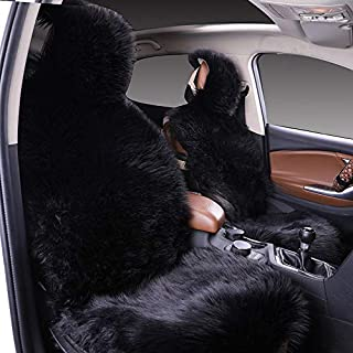 1Pack Faux Sheepskin Wool Fur Car Seat Cover for Cars SUV Trucks Universal Fit, Soft Plush Synthetic Wool Buck Fur Car Sea...