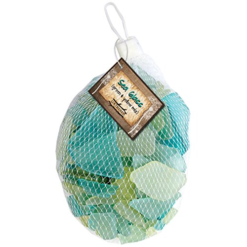 Gathered, by BCI Crafts GGLSBGY-10 Decorative Sea Glass, Green & Yellow Mix