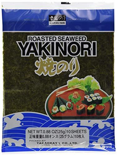 Takaokaya Seealgen, geröstet (Yaki Nori) (1 x 25 g Packung)