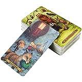 Mrjg Forest of Encantement Tarot 78 Tarjetas Juego de Cubierta con E Board de la guía Adivinación Lectura De Lectura Principiantes