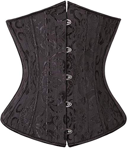 SZIVYSHI Mujer Steampunk Corsé de Underbust Cintura Waist Cincher gótico Bustier Fajas Reductoras de Cinturón Firme de Formación para
