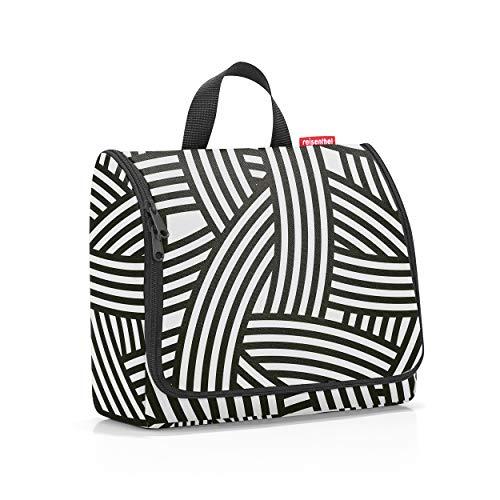 reisenthel toiletbag XL Kulturtasche, Kulturbeutel, Kosmetiktasche, Waschtasche, Zum Aufhängen, Polyestergewebe, Zebra, 4 L, WO1032