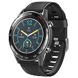 LTLJX Smartwatches, Inteligente Reloj de Medición de Temperatura con Pulsómetro Impermeable Deportivo Fitness Pulsera Podómetro Monitor de Sueño Cronómetros para iOS Android,Negro