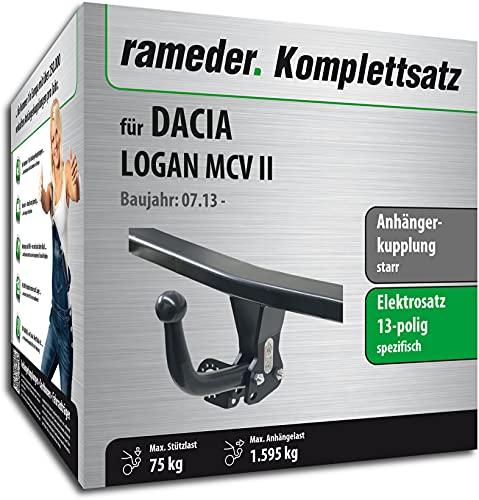 Rameder Set, Anhängerkupplung starr + 13pol Elektrik kompatibel für Dacia Logan MCV II (141232-11291-1)