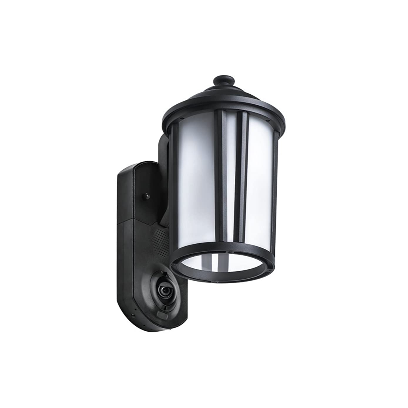 Maximus Video Security Camera & Outdoor Light - Traditional Black - Compatible with Alexa