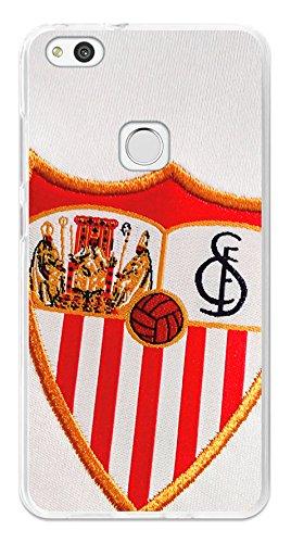 BeCool Funda Gel Flexible Sevilla FC para Huawei P10 Lite - Carcasa TPU Licencia Oficial Sevilla FC Escudo 1