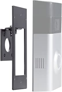 Adjustable (-45 to +45 Degree) Side to Side Angle Mount for Ring Video Doorbell 2, POPMAS Metal Angle Adjustment Adapter Mounting Plate Bracket Wedge Kit (Doorbell NOT Included)