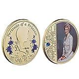 記念コイン ダイアナ妃 英国の女王 コイン お土産 コレクション 記念硬貨 アクリルケース付き ギフト