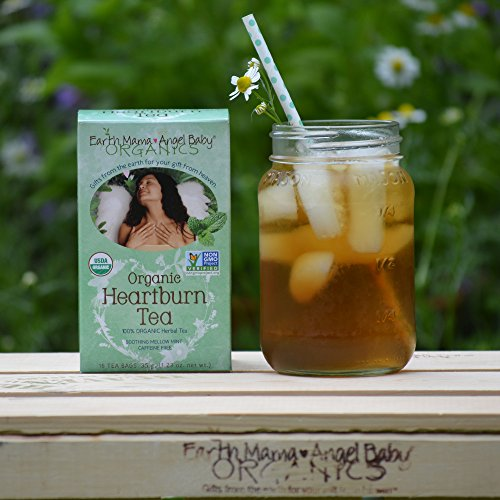 Organic Heartburn Tea for Occasional Pregnancy Heartburn, 16 Teabags/Box (Pack of 3)