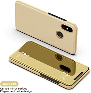 YUSHAZI Cell Phone case Clear View Smart Mirror Phone Case for Xiaomi Redmi 5 Plus Note 5 5A 4X A1 A2 Flip Cases for Xiaomi 8 6 6X Leather Cover