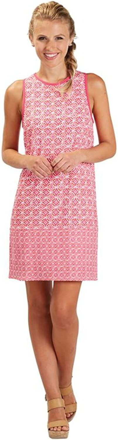 Mud Pie Womens Rosie Sleeveless Shift Dress Pink Medallion