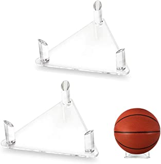 Tasybox Acrylic Ball Stand Holder, Sports Ball Storage Display Rack for Basketball Football Volleyball Soccer Rugby Balls ...