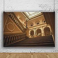 Qinunipoto 背景布 撮影布 写真の背景 近代建築インテリア 豪華な建物の背景 人物撮影 自宅 写真館 自宅用 商業用 写真背景 装飾用 無反射布 写真スタジオ デジタル背景布 小道具 ビニール 2.5x1.8m