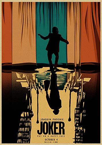 Joker Batman Film Affiche Rétro Décoration De La Maison Murale Sans Cadre 50X70Cm K11133