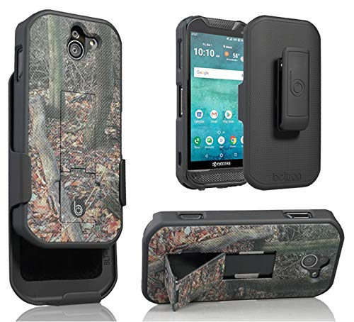 BELTRON Kyocera DuraForce Pro 2 Camo Case with Belt Clip Holster, Heavy Duty Slim Shell Holster Combo with Kickstand for Verizon Wireless E6900 E6910 E6920 Duraforce Pro-2 Limited Edition Camouflage
