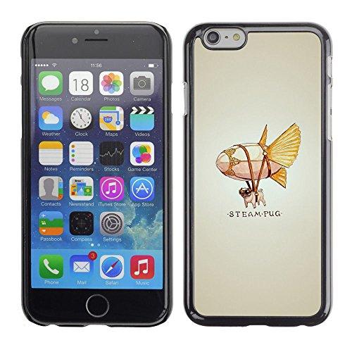 All Phone Most Case / Oferta Especial Duro Teléfono Inteligente PC Cáscara Funda Cubierta de proteccion Caso / Hard Case Apple Iphone 6 Plus 5.5 // Steam Punk Flying Dog Pug