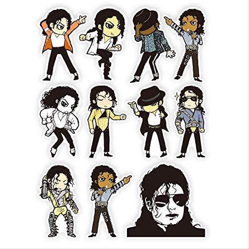 ZAQQ Michael Jackson Dibujos Animados Lindo Maleta Teléfono Portátil Guitarra Skate Pegatina Impermeable Pegatina